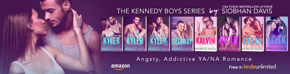 The Kennedy Boys series by Siobhan Davis banner